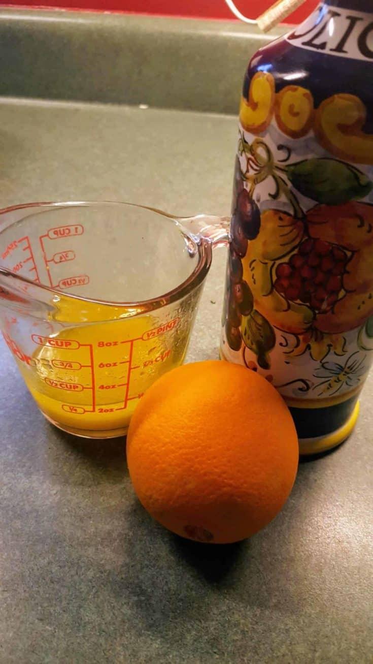 Orange and Honey Vinaigrette Dressing