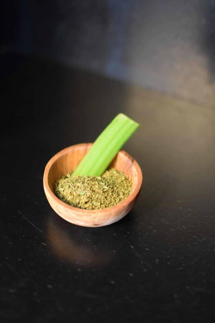 Freshly Ground Dried Celery Leaves