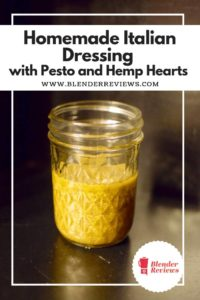 Homemade Italian Dressing with Pesto and Hemp Hearts