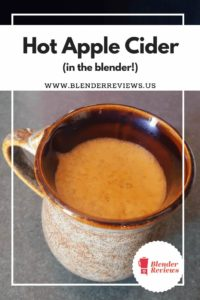 Hot Apple Cider (in the blender!)