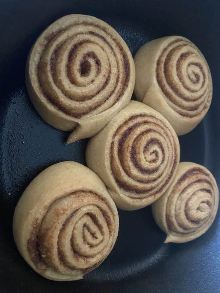whole wheat cinnamon rolls from scratch in less than 2 hours