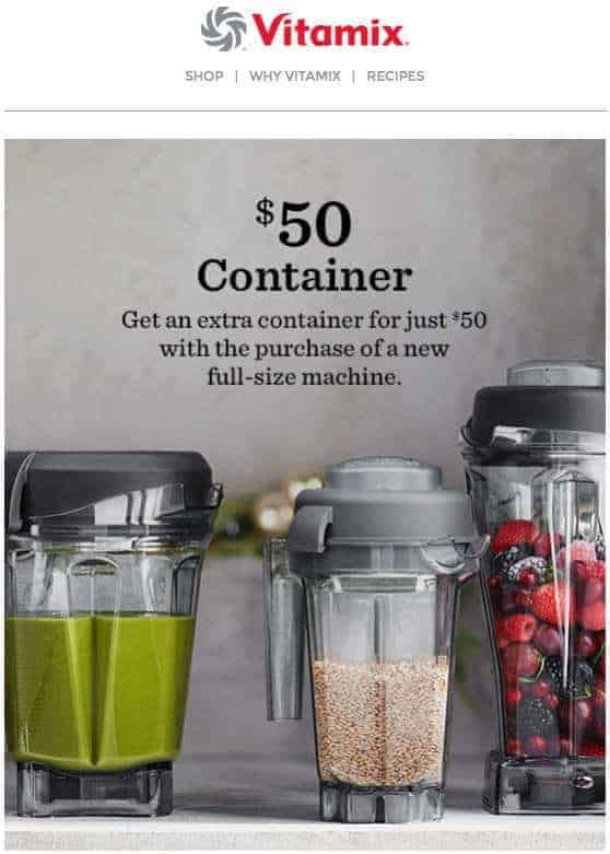 Vitamix Container $50