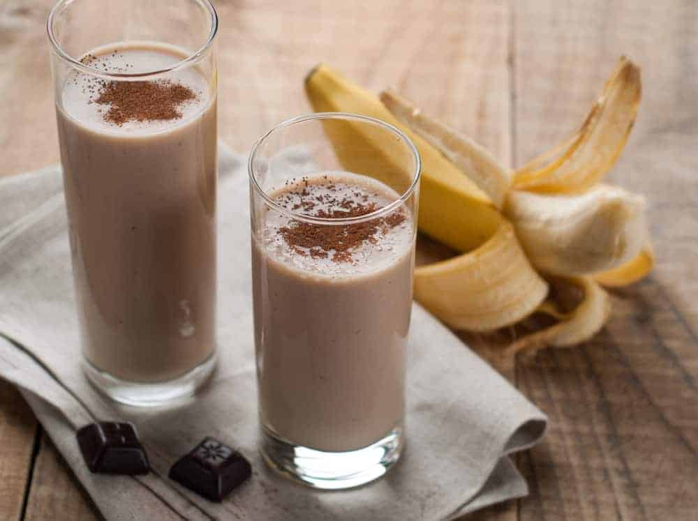 Chocolate, Peanut Butter, Banana Protein Smoothie