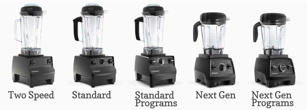 refurbished Vitamix lineup